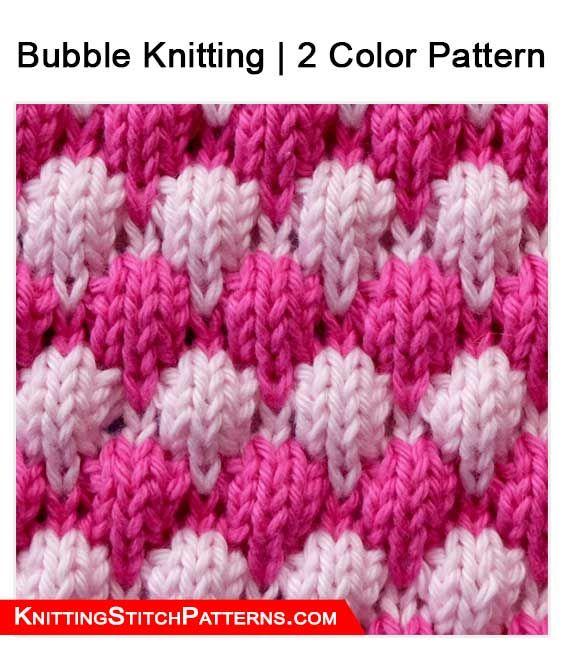 Knitting Stitch Patterns Bubble Knitting 2 Color Pattern A Pat