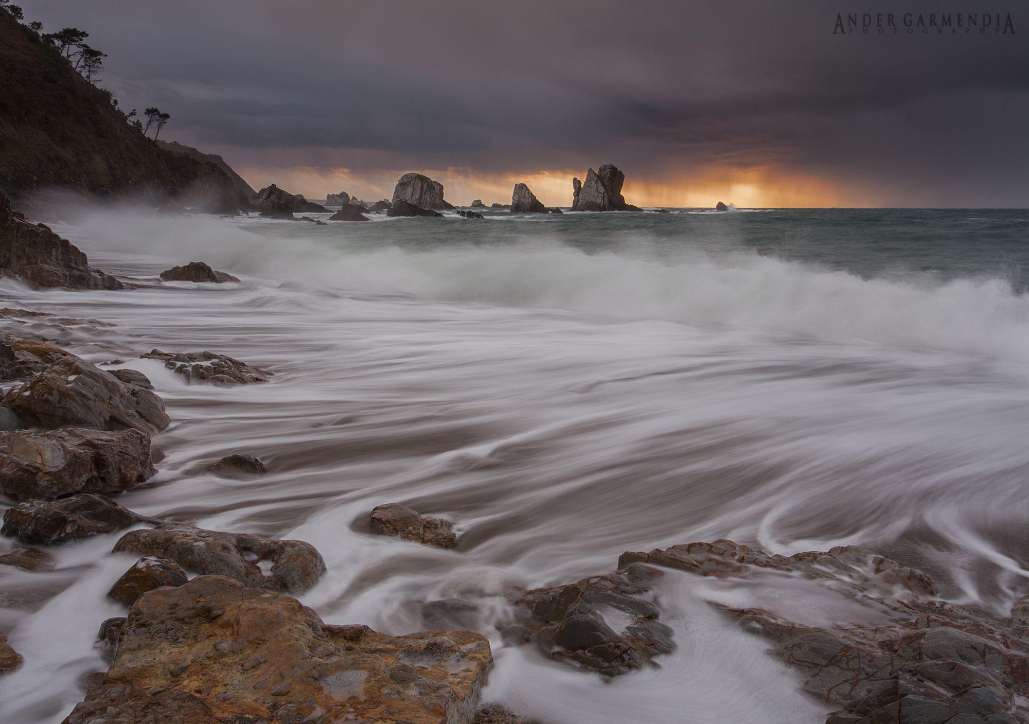 """Playa del silencio"" or ""quiet beach"", but that day it wasn´t.."