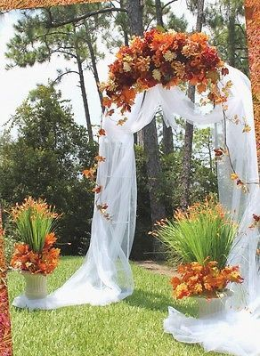 Wedding arch white steel for special events occasions 90 inch x wedding arch white steel for special events occasions 90 inch x 55 inch junglespirit Images