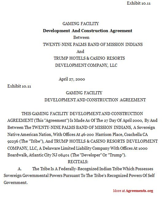Development And Construction Agreement,Sample Development And