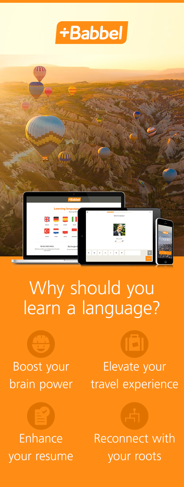 Start learning one of our 14 languages with a free first lesson sign up now