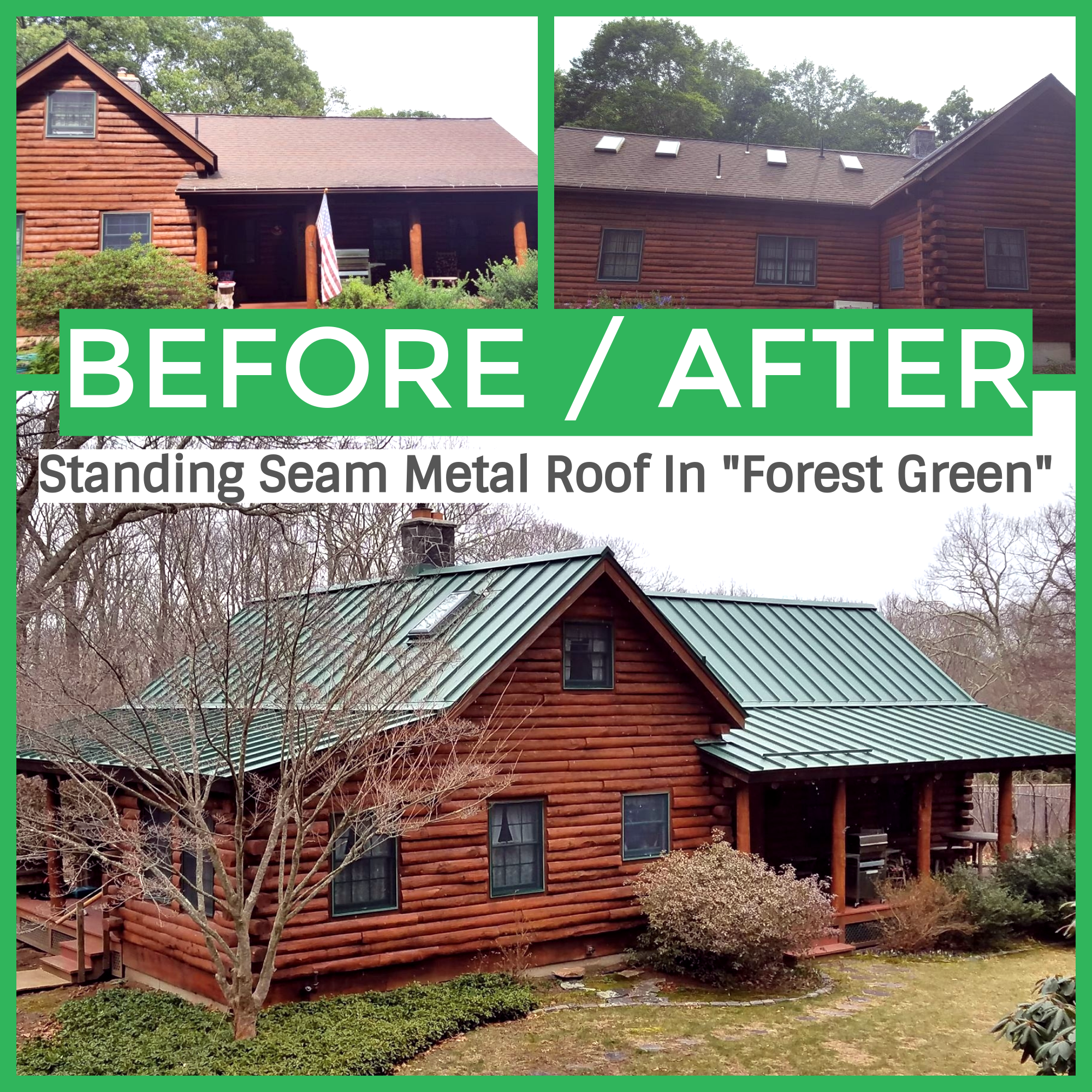 Standing Seam Classic Metal Roofs Llc Stow Ma Green Roof House Metal Roof Standing Seam Metal Roof