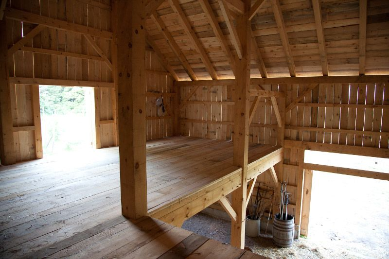 Ruff Sawn Lumber Timber Frame Barn Is Ready For Harvest