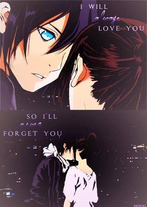 Noragami - Yato I para los que no siguen el manga que sepan que esta imagen está cambiada, pues quando passa esto es otra persona la que besa a Hyori (No voy a poner spoilers, si quereis saber leed el manga (^m^ ))