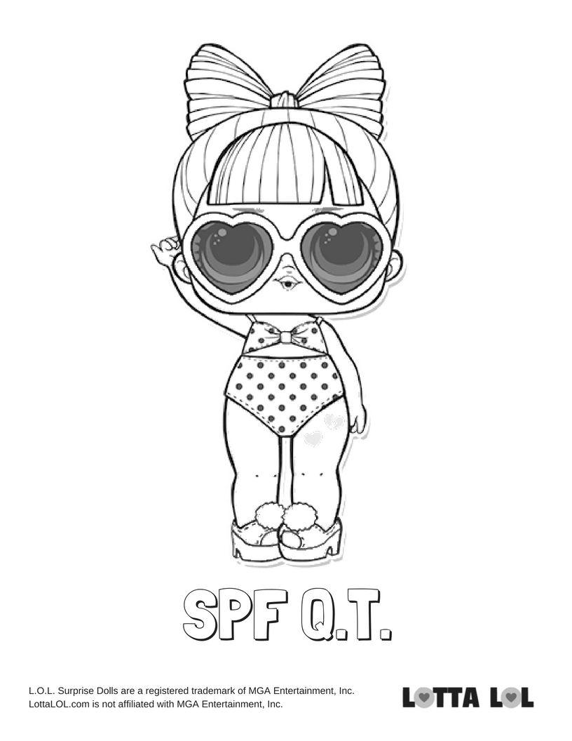 SPF QT Coloring Page Lotta LOL LOL Surprise Series 3