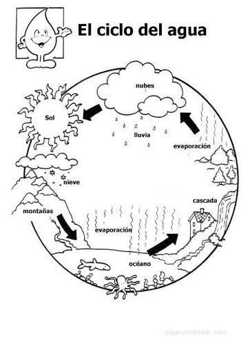 Water Cycle for Kindergarten Worksheets Lectlicican Blank