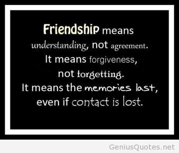 Quotes About Friendship And Forgiveness Brilliant Friendshipmeansunderstandingnotagreementitmeans