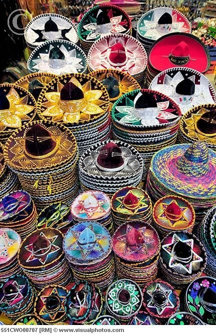 Colorful sombreros  Learn more about Mexico c6b3eda63ec
