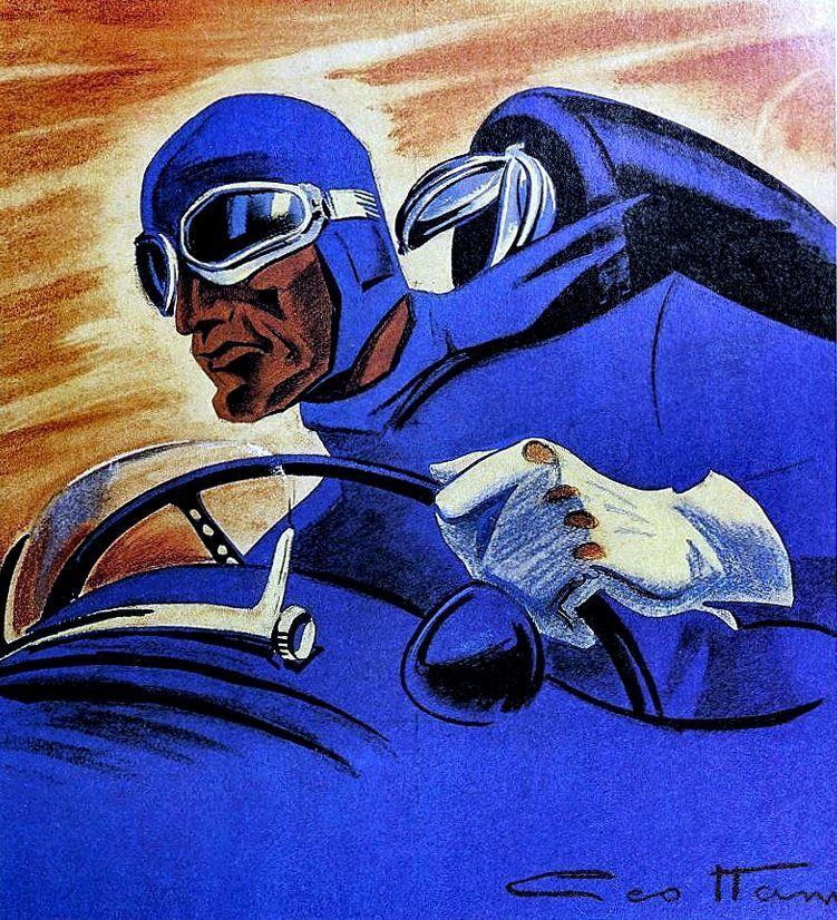 """""""The Blue Pilot"""" by Géo Ham, 1939. – #1930s #1939 #blue #car #cars #classic…"""