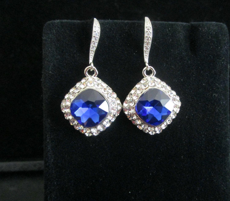 Vintage Style Sapphire EarringsSomething Blue Wedding Earrings