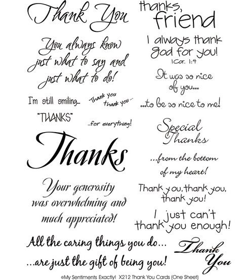 Mse My Sentiments Rub Ons Thank You Cards Rub Ons Scrapbooking