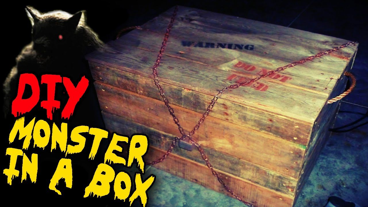 Monster In A Box Diy Halloween Haunted House Prop Haunted House