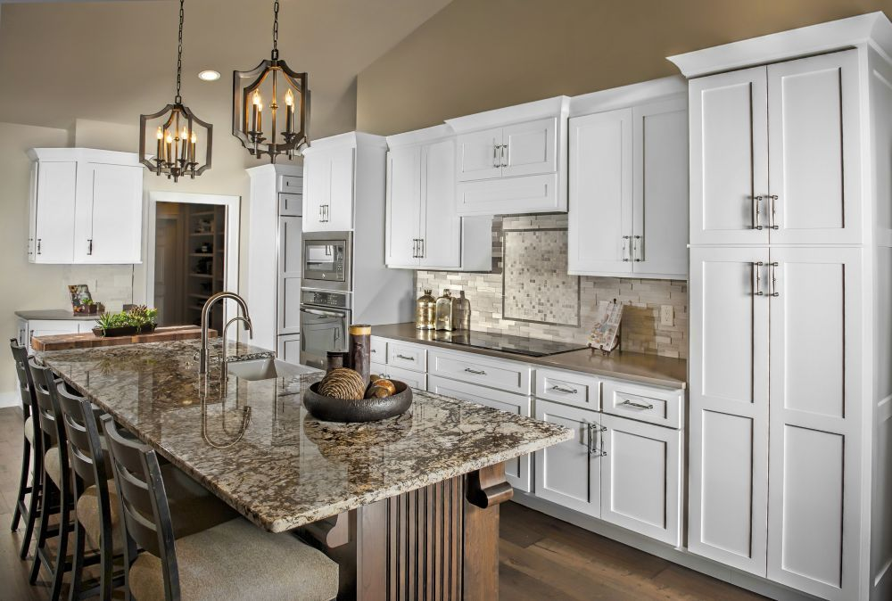 White Cabinets Kitchen Cabinetry Dark Island Granite Crown Molding Kitchen Cabinetry Kitchen Set Cabinet Crown Molding Kitchen