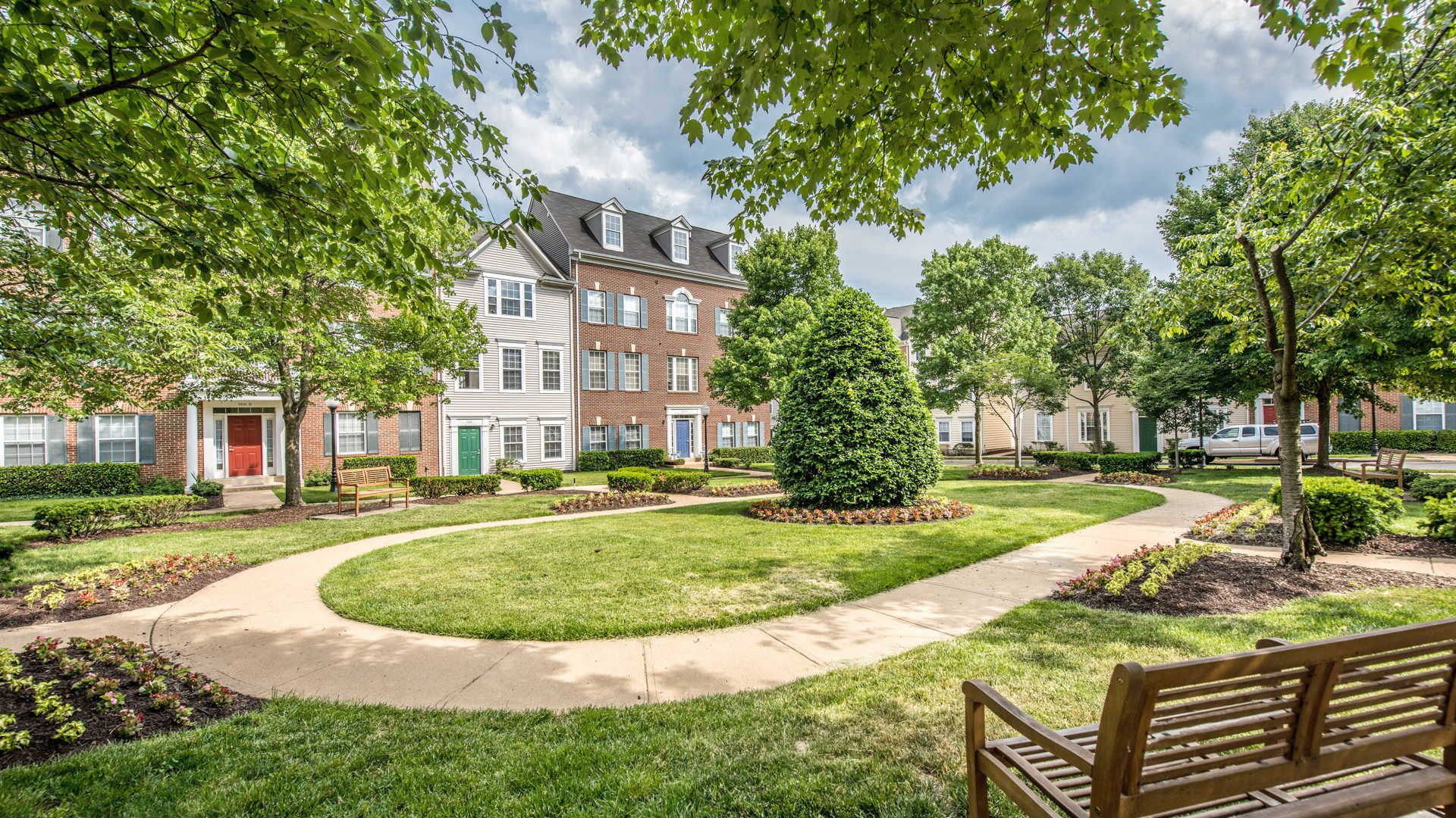 Town Square At Mark Center Apartments Courtyard Towns North Campus House Styles