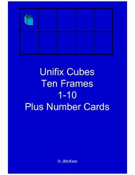 Freebie!This file contains blue unifix cube themed ten frame cards and number word cards for numbers 1-10.