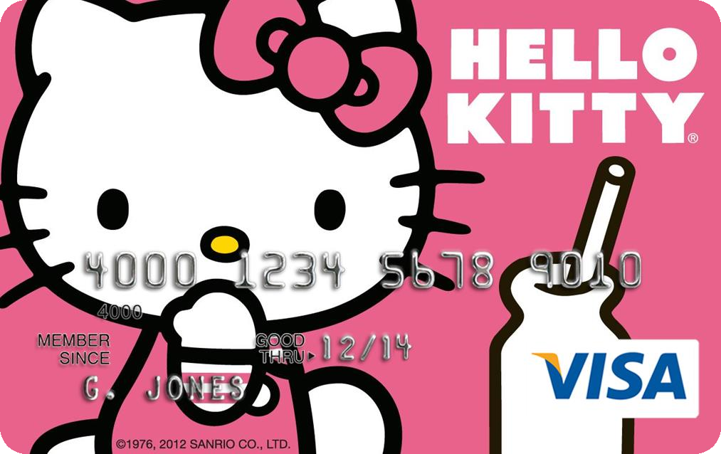Hk hello kitty visa platinum reward card one of five awful credit credit cards come in two forms secured and unsecured secured credit greeting cards for below average credit require the consumer m4hsunfo