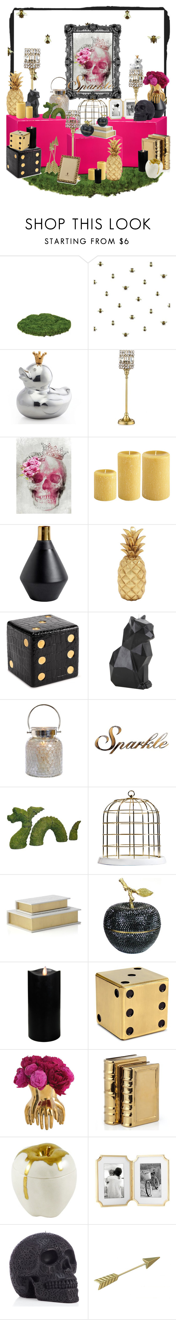 """Gold, Pink, Black, white"" by britt-catlynne-weatherall on Polyvore featuring interior, interiors, interior design, home, home decor, interior decorating, Timorous Beasties, Lunares, Leeber Limited and CB2"