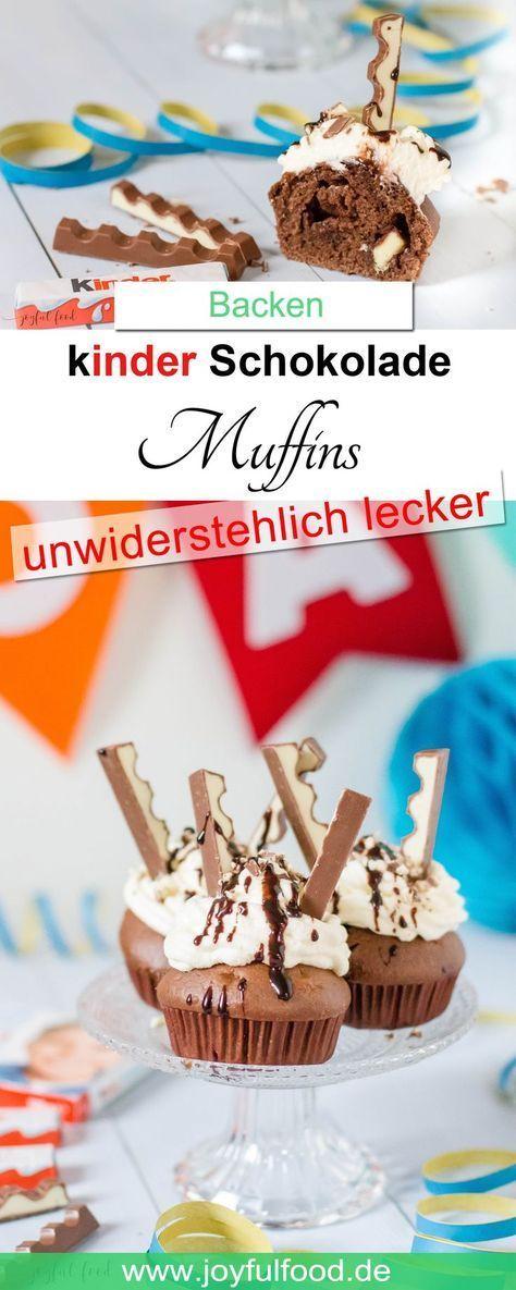 kinder Schokolade Muffins #cupcakesrezepte