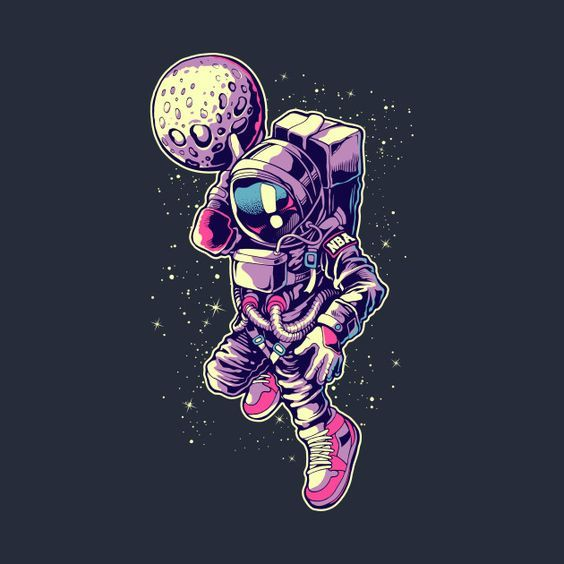 Awesome 'Astronaut+Dunk' design on TeePublic! Astronaut