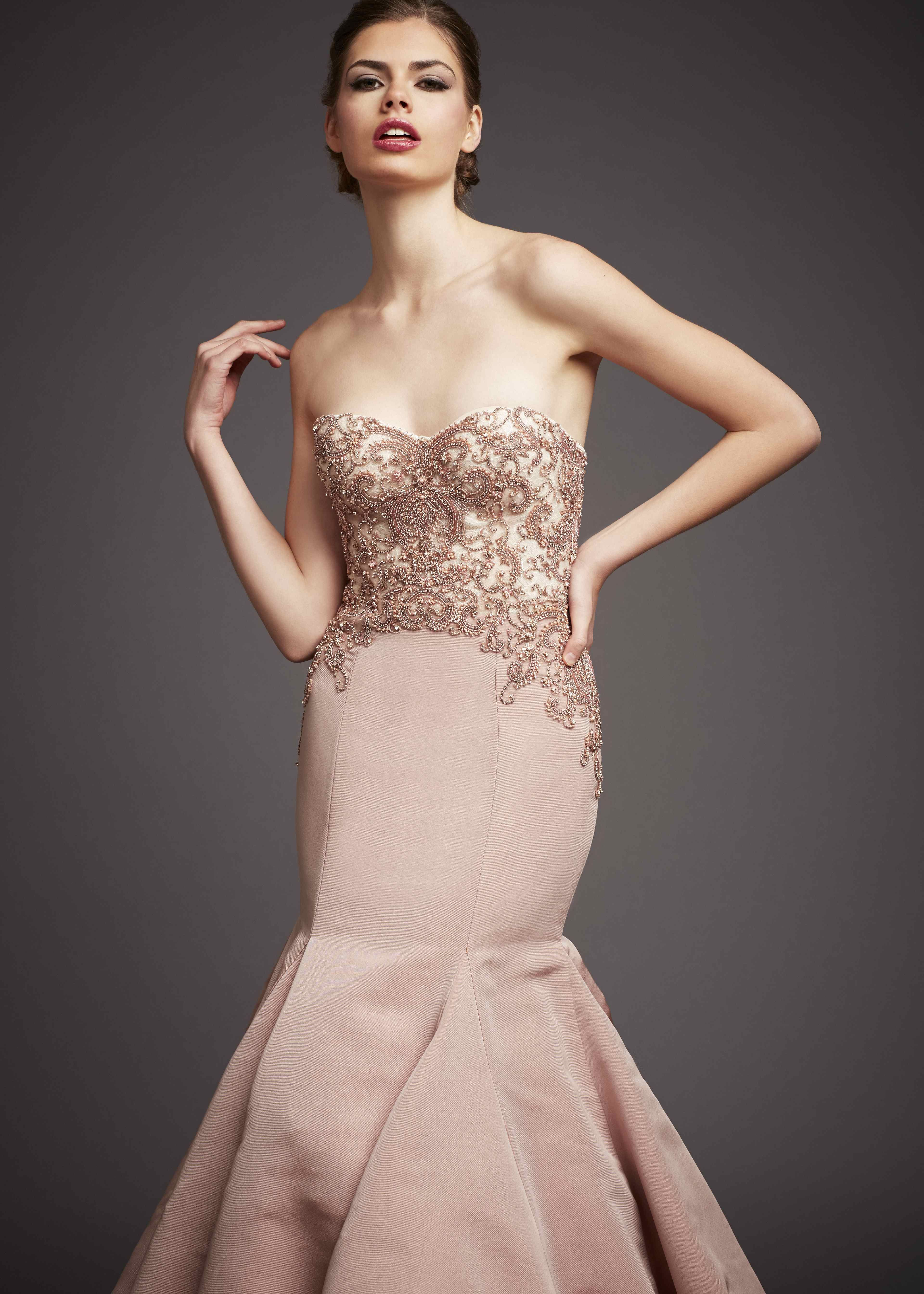 Anne Barge Black Label - Evening Gown - Divine. Wine colored fit and ...