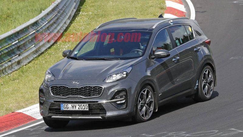 2019 Kia Sportage Crossover Spied Without Camouflage Kia Sportage Kia Sportage