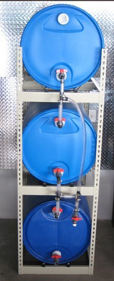 Triple Barrel Water Storage Continuous Flow Get A Little Height Under The
