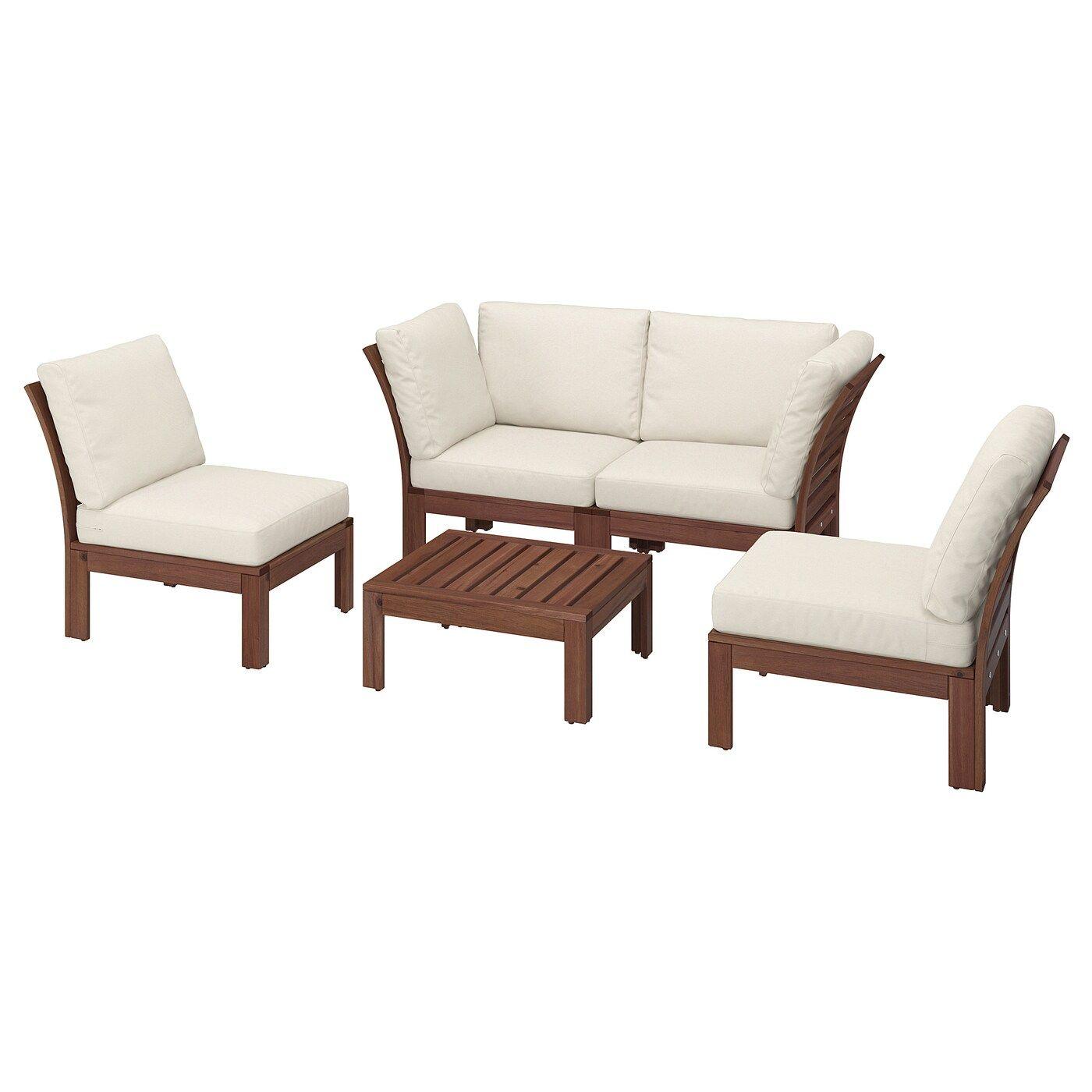 Applaro 4er Sitzgruppe Aussen Braun Las Froson Duvholmen Beige Lounge Mobel Ikea Outdoor Und Sitzgruppe