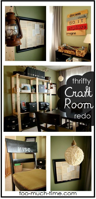 Easy organized loft craft room office