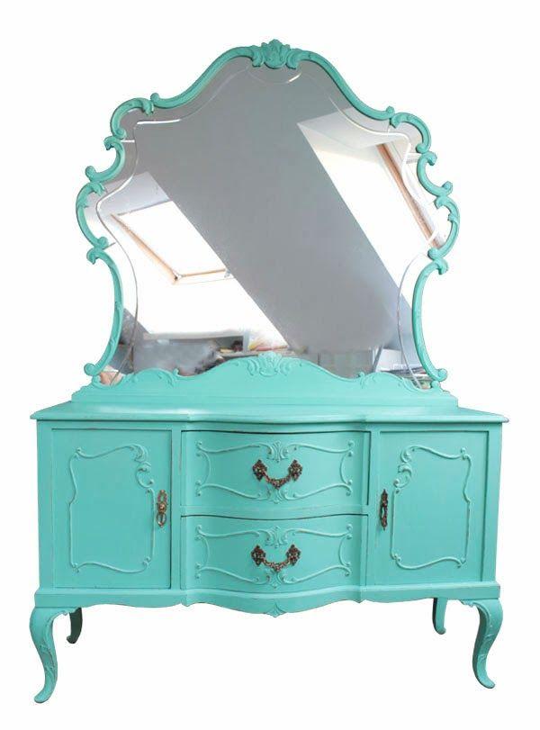 El bazar vintage chic l mparas muebles y objetos for Espejos decorativos vintage