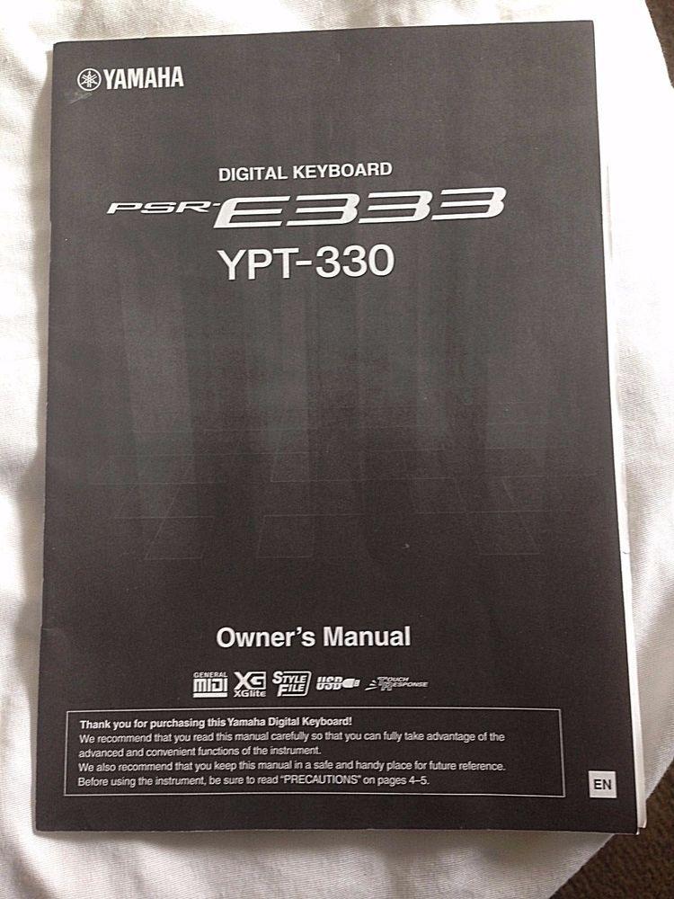 yamaha digital keyboard psr e333 ypt 330 owner s manual for sale rh pinterest com yamaha keyboard user guide yamaha keyboard psr i455 user manual