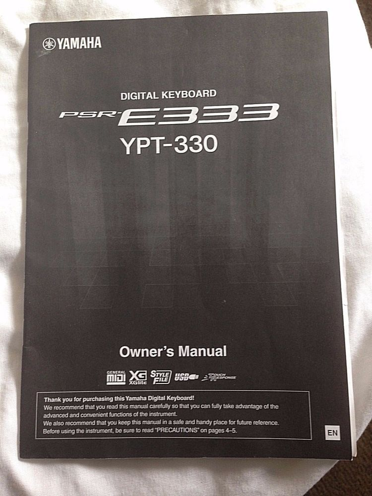 yamaha digital keyboard psr e333 ypt 330 owner s manual for sale rh pinterest com yamaha psr e343 manual yamaha psr e333 manuel