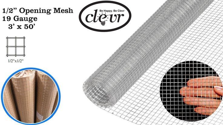 1 2 Inch 19 Gauge Hardware Cloth Galvanized Cage Wire Mesh Chicken 36 X 50 Hardware Cloth Fence Windscreen Privacy Screen