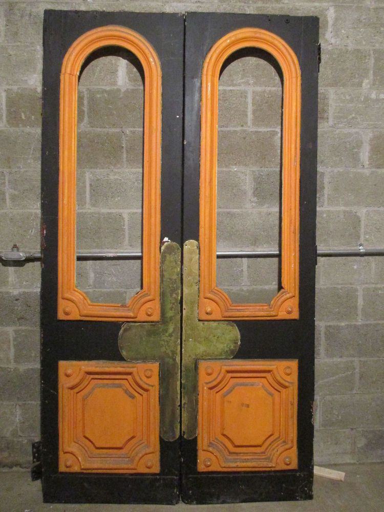 details about antique wood and brass double entrance storefront doors 525 x salvage