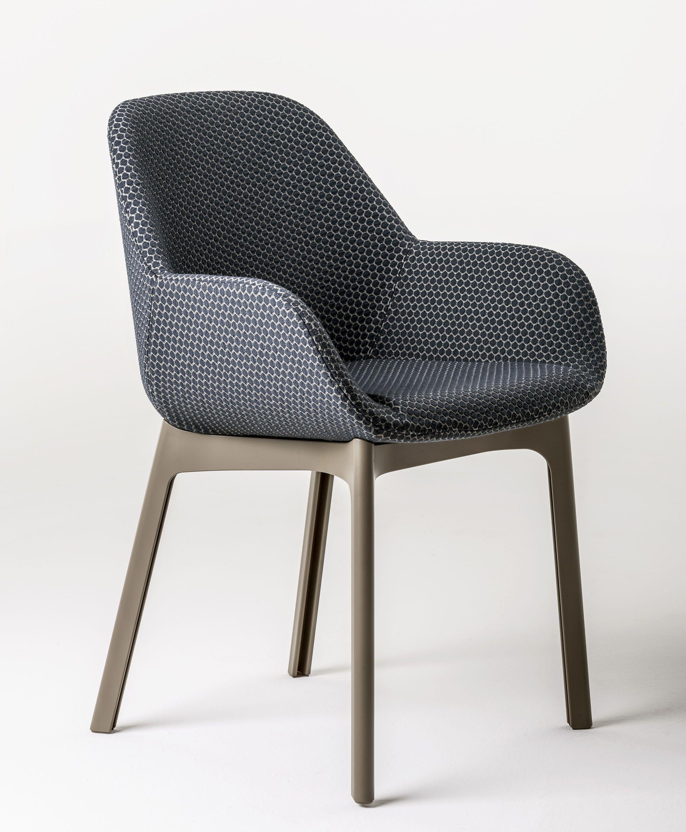fauteuil clap tissu graphite pieds tourterelle kartell