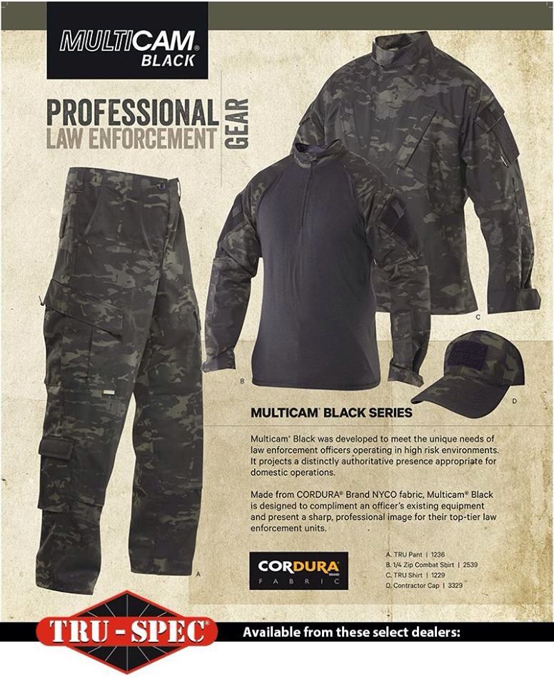 56f6b42a56b TRU-SPEC Multicam black everything you need to disappear in the night.