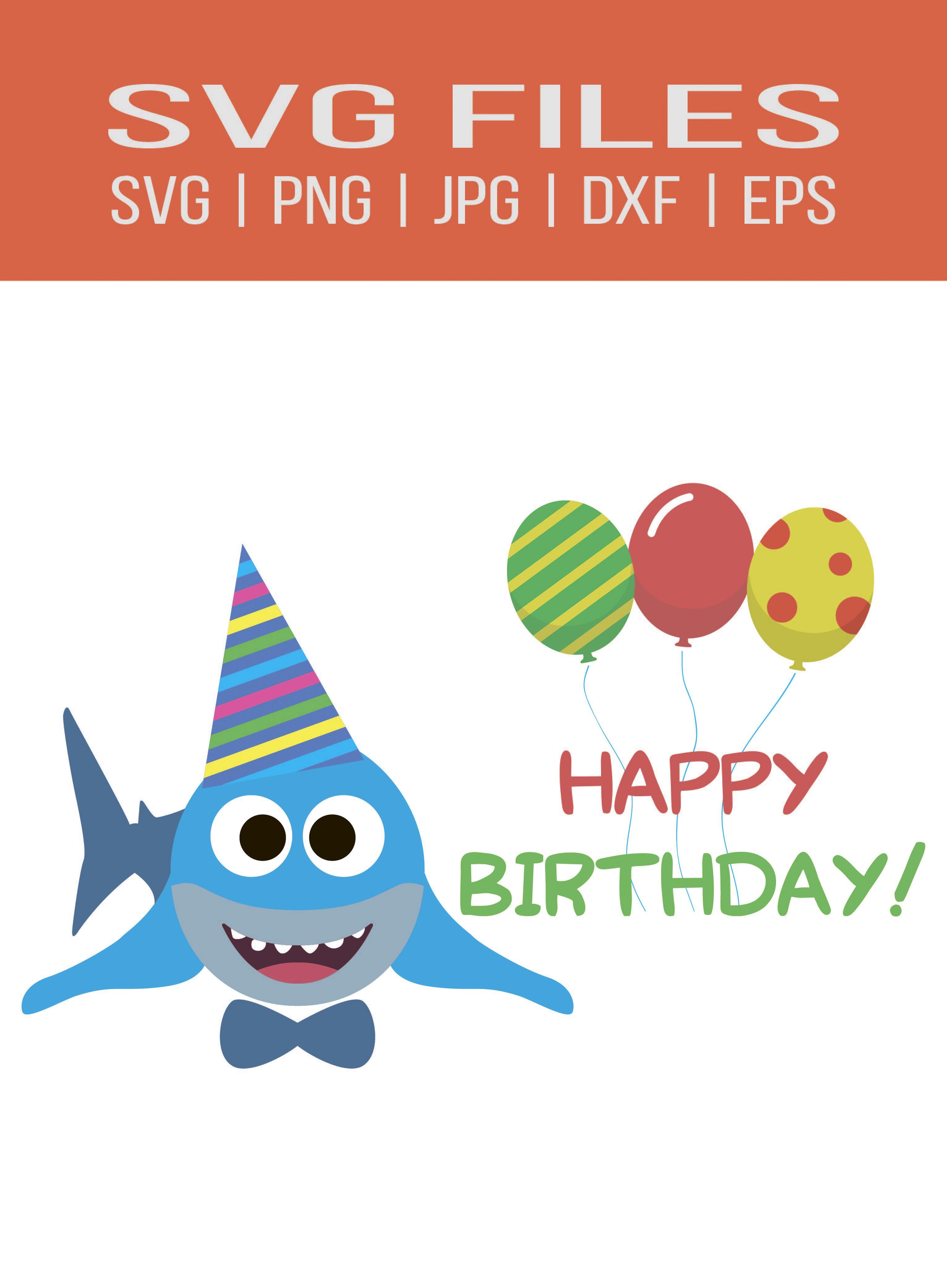 Baby Shark Birthday Svg Free : shark, birthday, Shark, Birthday, Clipart,, Shark,, Birthday,