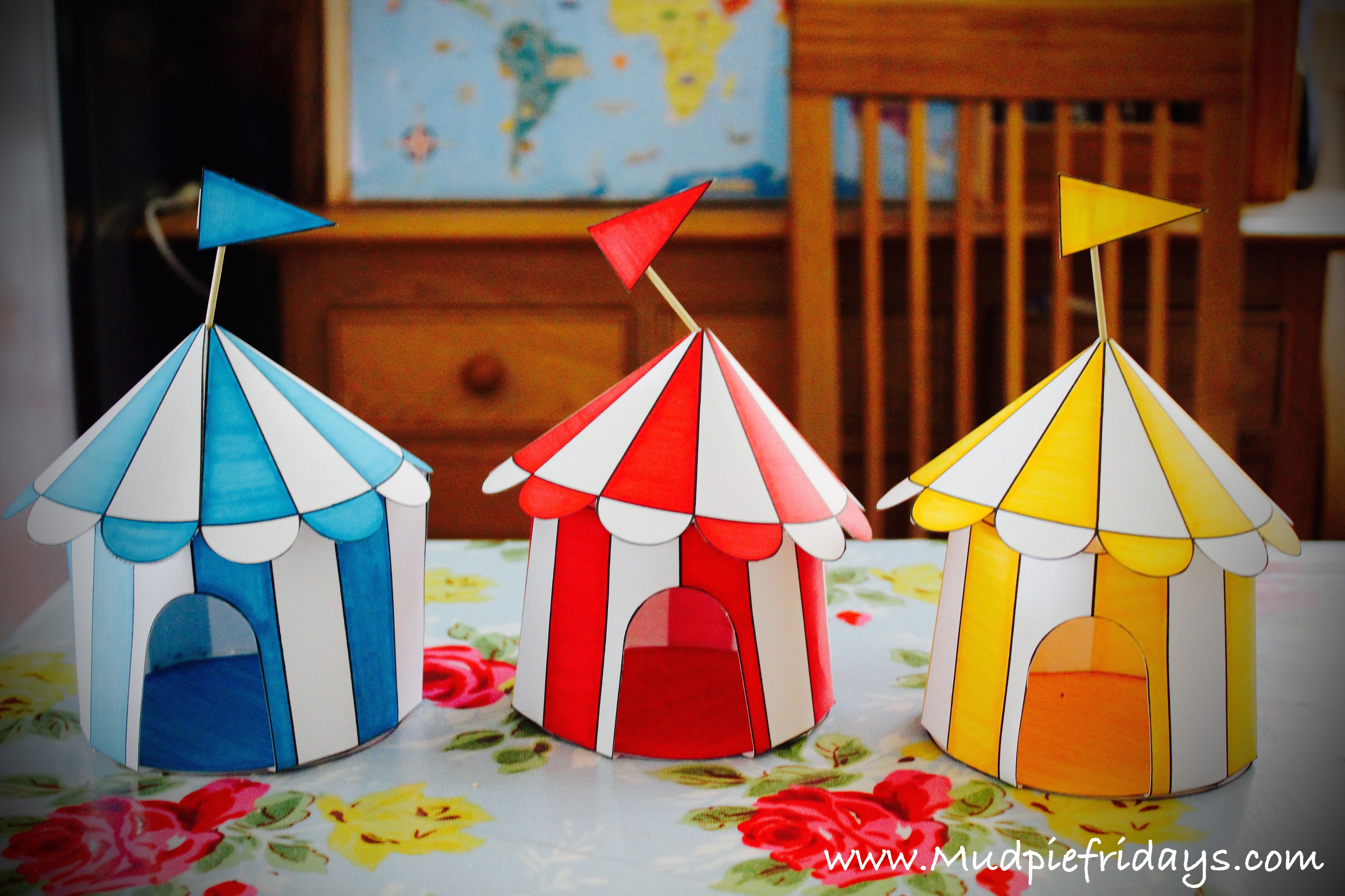 Circus Tents from First Palette & Circus Tents from First Palette | CIRC | Pinterest | Circus crafts