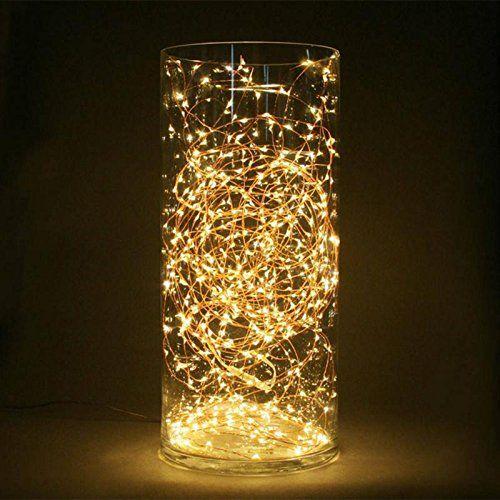 Wuiyepo 2M 6V 20 LED Luz de hadas cadena Luces de Navidad decoracion - Luces De Navidad