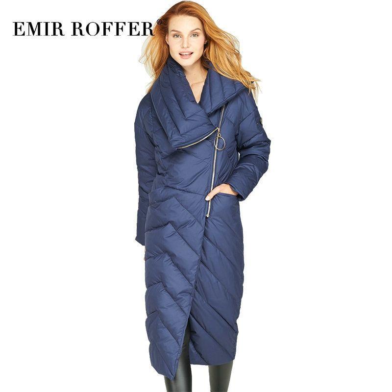 3a784574f EMIR ROFFER Winter 2018 Women's Long Down Jacket Coat Female ...