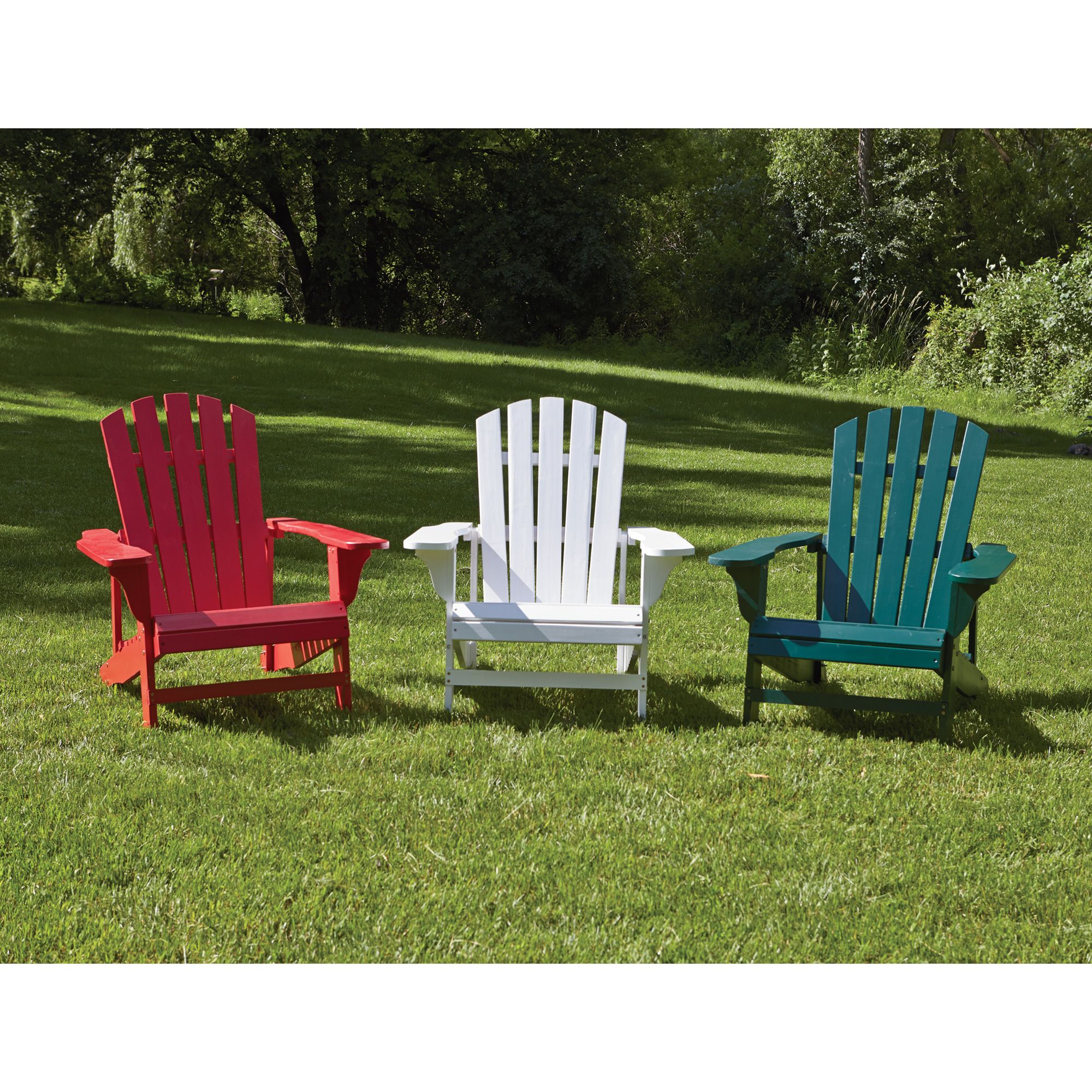 Hunter Green Cedar Adirondack Chair Outdoor chairs