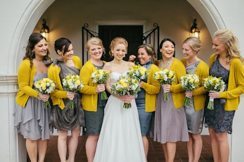 Gray and Yellow Florida Destination Wedding | Grey bridesmaid ...