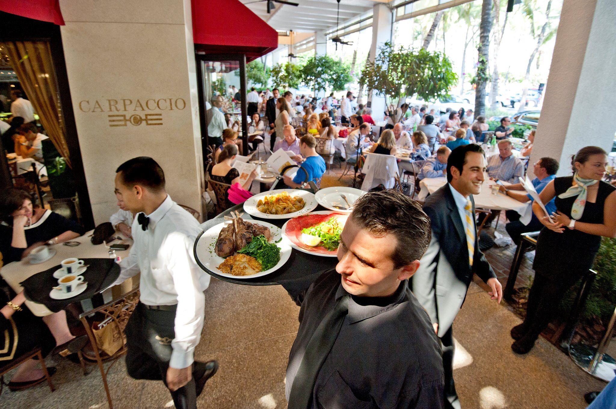 Carpaccio Restaurant Bal Harbour Shops Indulge Restaurant