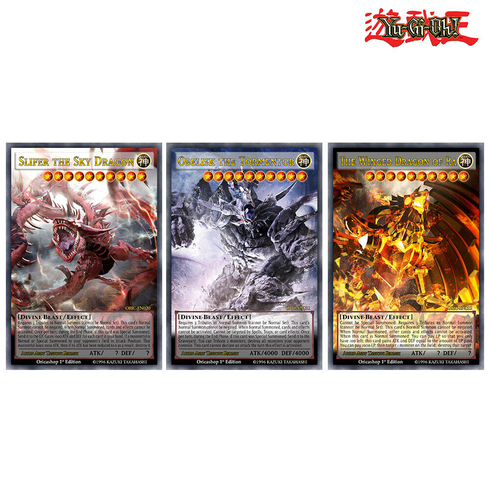 yugioh orica 3xset god cards holocommon  fullart