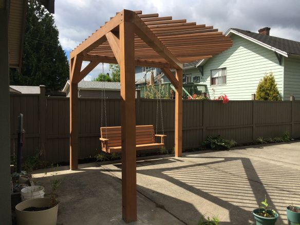 Pergola Deck I Like The Openness But With A Natural Wood Color