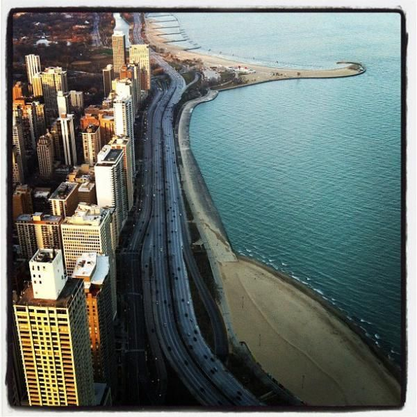 View of Lake Shore Drive from the Hancock featured on Local Tourist