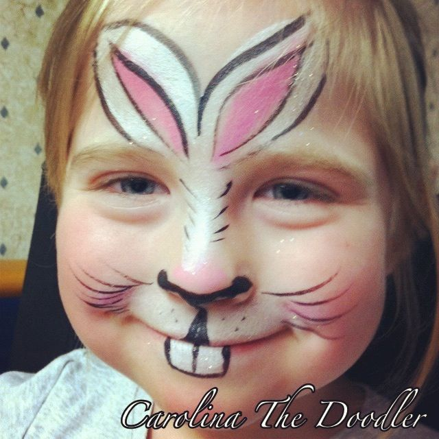 The Bunny Face Painting by Carolina The Doodler Wolfe FX Face