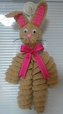 [Free Pattern] Crochet Easter Bunny Decoration #eastercrochetpatterns