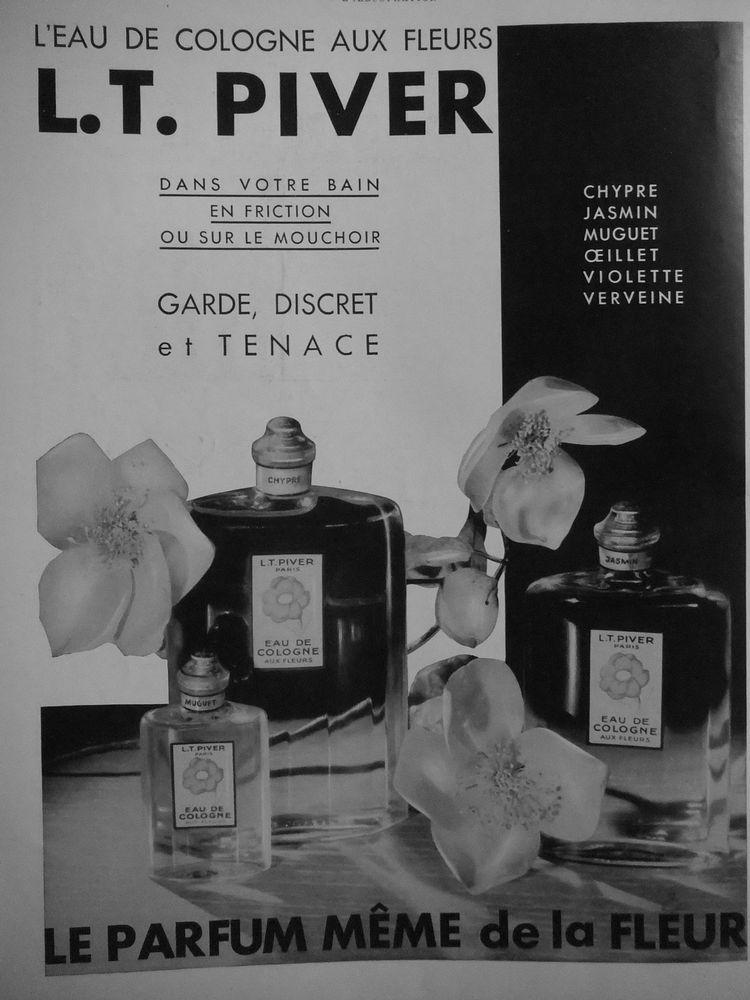 PUBLICITÉ 1932 L'EAU DE COLOGNE AUX FLEURS DANS VOTRE BAIN L.T. PIVER PARIS