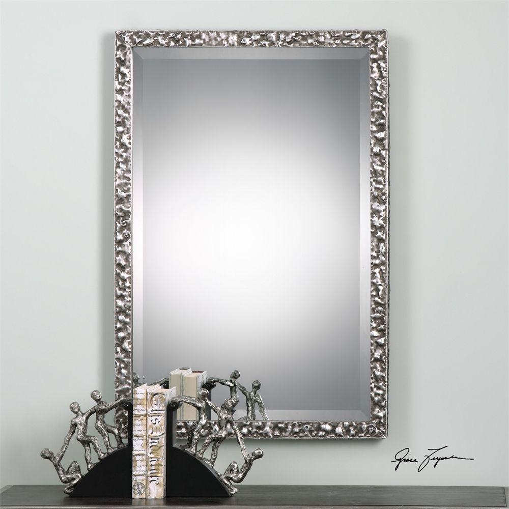 Uttermost Alshon Metallic Silver Mirror | mirror and glass ...