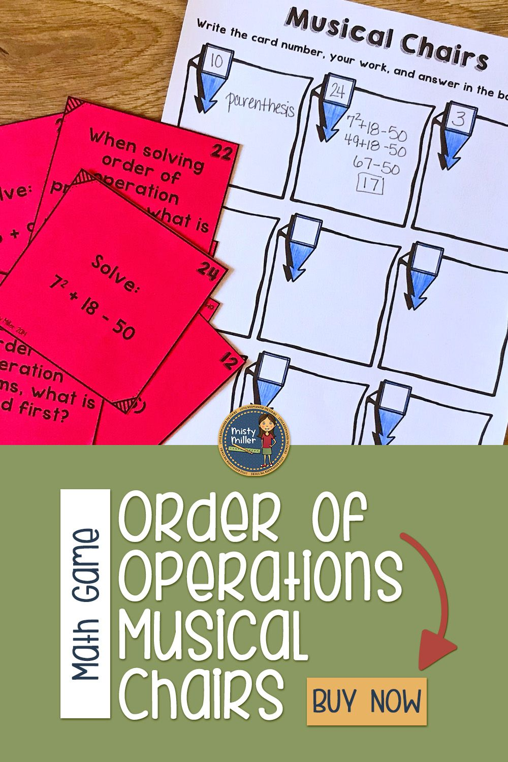 Order of Operations Musical Chairs Order of operations